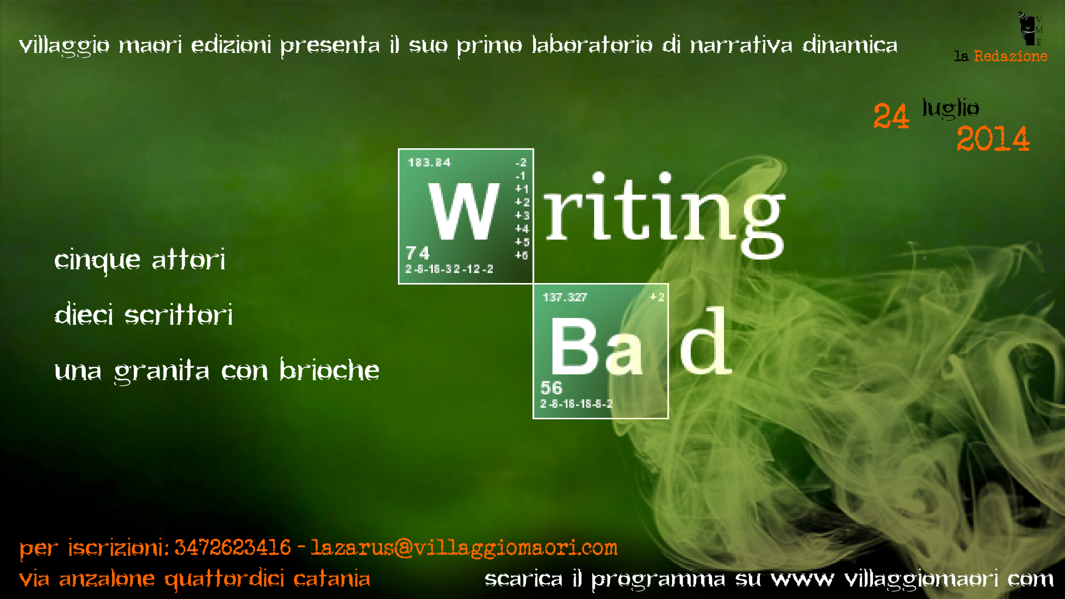 Writing Bad – laboratorio di scrittura dinamica
