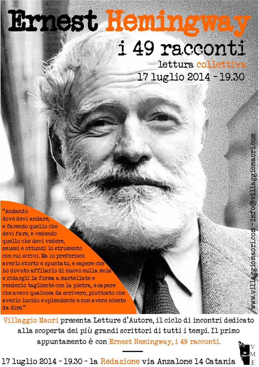 I 49 racconti – Hemingway, lettura collettiva